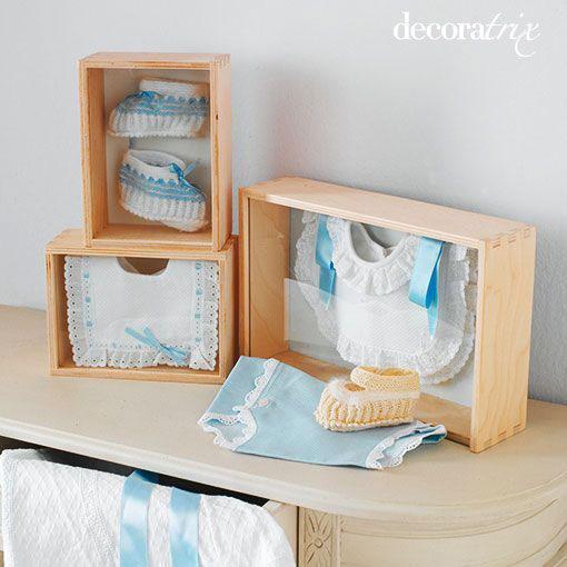 Primera edici n cuadros con la ropa del beb - Cuadros para habitacion de bebe ...